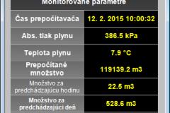 Parametre zemného plynu